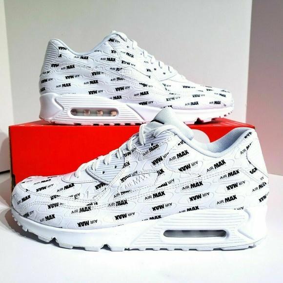 Nike Air Max 90 Premium White Black Running Shoes NWT